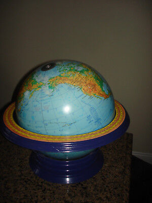 "Vtg Old School Globe with Stand Cram's 12"" Physical Political Terrestrial Globe"