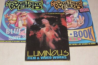 2 Something Weird Blue Book Catalogs 1997 1999 & Luminous Film and Video 1999