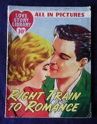 RIGHT TRAIN TO ROMANCE (Love Story Library 154) All in Pictures, 1957.