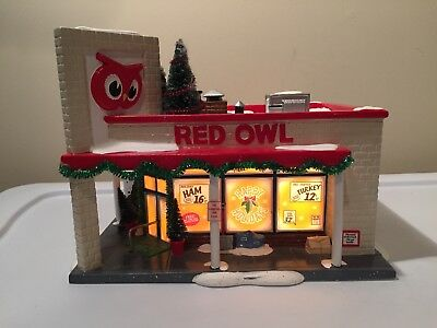 Dept 56 Snow Village Red Owl Grocery#55303 - Retired