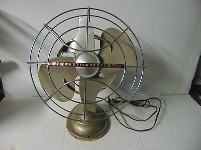 Vintage Westing House Electric Fan Working 4 blades 2 has been trimed down