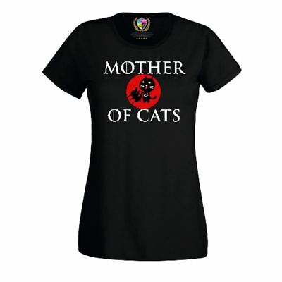 Women Funny Printed T Shirts-Mother of Cats Game of thrones Inspired-Gifts