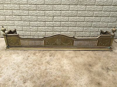 Gorgeous Antique Brass Fireplace Fender Louis XVI Neoclassical Style