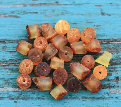 50 Pcs Loose Raw Baltic Amber Beads