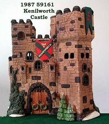 Dept 56 Dickens Kenilworth Castle RARE Christmas Village LN
