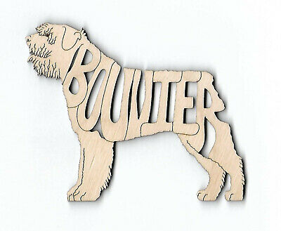 Bouvier des Flandres Dog laser cut and engraved wood Magnet