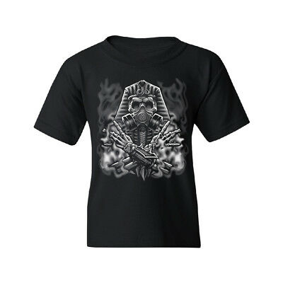 Ancient Egyptian God Gas Mask Mummies Youth T-shirt High Quality Tee