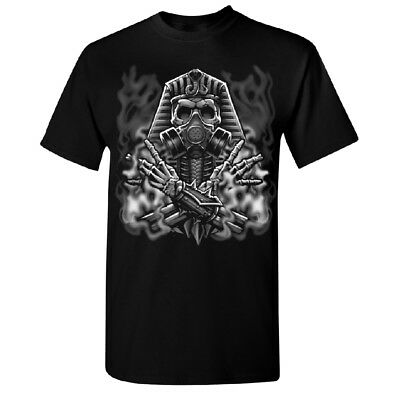 Ancient Egyptian God Gas Mask Mummies Men's T-shirt High Quality Tee