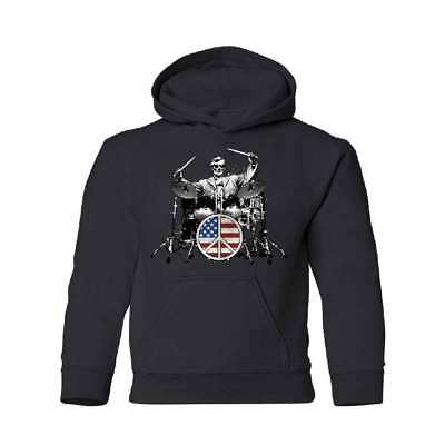 Abraham Lincoln Drummer YOUTH Hoodie 4th of July USA Flag Sweatshirt