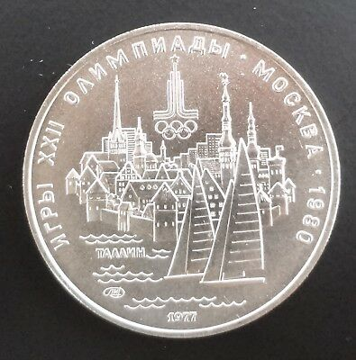 Ussr Russia 1980 Olympic Games Tallinn 5 Ruble Silver 1977