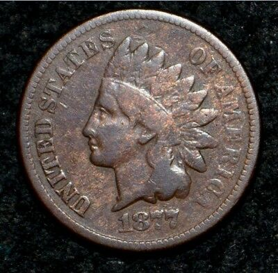 1877 Indian Head Cent***NICE BROWN**FINE**Partial LIBERTY