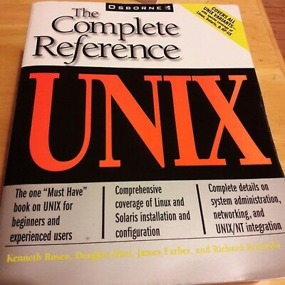 UNIX The Complete Reference by Kenneth Rosen, Douglas Host, James Farber