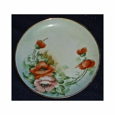 Vintage Hand Painted Floral Collector Plate Japan