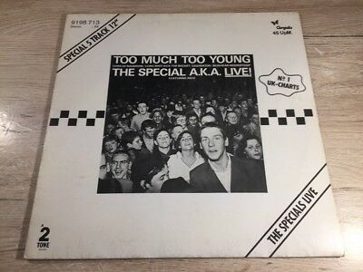 12'' Chrysalis 9198 713 The Special A.K.A. Featuring Rico – Too Much Too Young