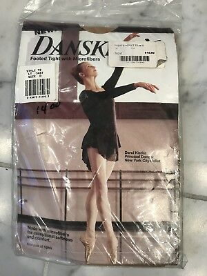 Womens Danskin Footed Microfiber Tights Size large