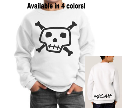 Kids Youth Sweatshirt S M L XL red white gray black personalized name included!