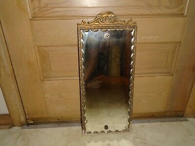 Vintage Wood Mirror Wall Hanging Scallop Antique