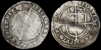 Elizabeth I Hammered Silver Sixpence, Dated 1575