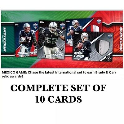 INTERNATIONAL MEXICO GAME COMPLETE SET OF 10 Topps Huddle Digital Card