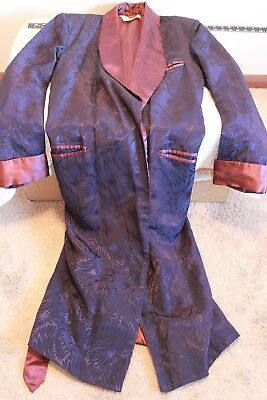 Vintage Men's Lined Robe / Smoking / Lounge (Size M)  -  EXCELLENT USED COND