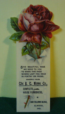 Celluloid Advertising Bookmark From J. T. Royse Co. Home Furnishers Elwood, In.
