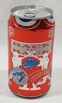 Coca Cola Unopened Can Toronto Blue Jays Back To Back 92/93 World Series AL