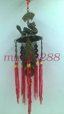 Pop bell Feng shui new varieties Chinese huge brass copper sculpture pray dragon