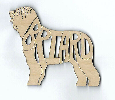 Briard Dog laser cut and engraved wood Magnet
