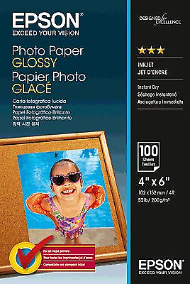 Original Epson Papier weiß C13S042548 Photo Paper