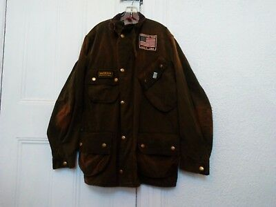 "Barbour Steve McQueen flight Jacket! Sz 42"". Super Amazing Rare!!!!"
