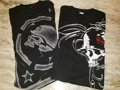 Metal Mulisha t-shirt men's size large skull t shirts (LOT OF 2)