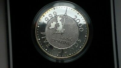 2000 Great Britain silver proof 5 pounds coin, Millennium, UK crown