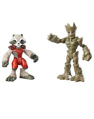 New Playskool Original 2 Pack Of Marvel Super Hero Adventures Figures