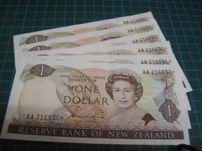 New Zealand 1981 $1 AA Star Run of 6 P169a aUNC