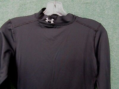 Under Armour Coldgear shirt womens size S Black athletic top fitted long sleeve
