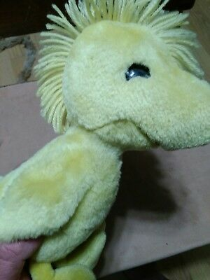 """Snoopy's friend plush chirping WOODSTOCK doll 10"""", WOW Worlds of Wonder"""