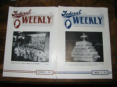 FEDERAL BAKERY Newsletter LOT 1952-54 VINTAGE DAVENPORT IA.confectionary Cooking
