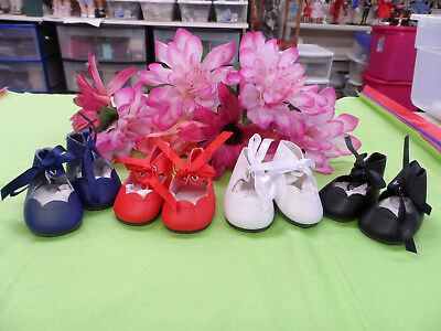 "Reproduction Shoes For 16"" Terri Lee Doll Set Of 4 White, Blue, Black, Red"