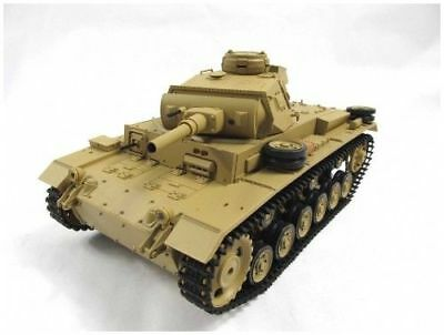 NEWEST 2.4G Henglong 1:16 R/C S&S German Panzer IIIH Tank