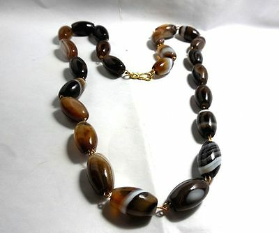 RARE Ancient Natural Genuine Solomon/Suleimani Banded Eye  Agate Beads