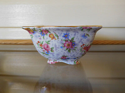 "Royal Winton Grimwades ""Eleanor"" Chintz Sugar Bowl England 1940s"
