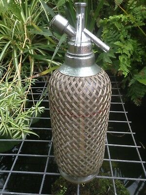 Vintage 1950's Mesh Soda Syphon Bottle Kitchenalia Display