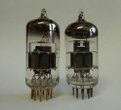 2x E88CC Valvo red label goldpins and Lorenz