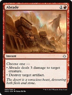 MTG: Abrade - Red Uncommon - Hour of Devastation