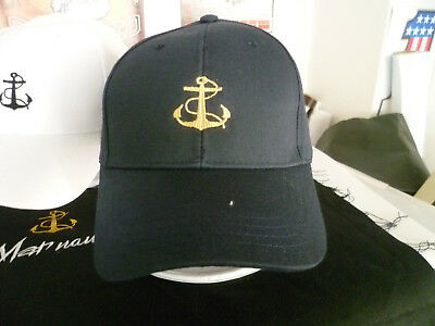 Captains Cap bestickt  Anker Anchor Base Cap Yacht Boat Boot Segeln Marine Ship