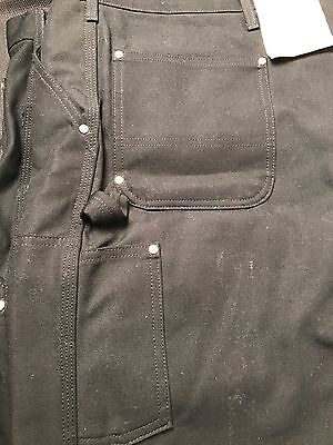 Carhartt Firm Duck Double Front Work Dungaree 56X32 Loose Original Fit BLACK