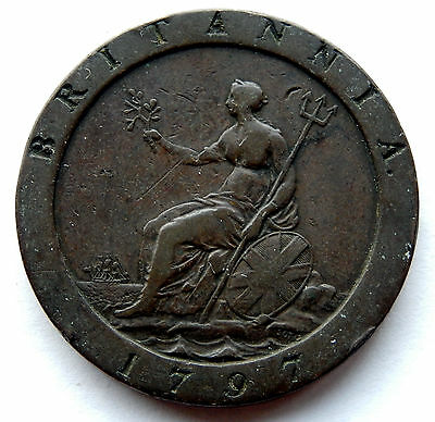 1797 Great Britain One Penny Cartwheel Coin  KM#618 SB4891
