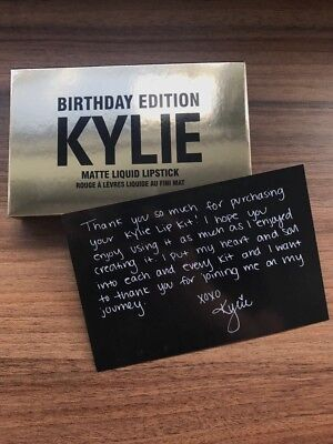 Kylie Jenner Mini Lipsticks Matte Birthday Edition Box Lipkit OVP!!! NEU!!!