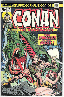 Conan the Barbarian #50 (Marvel 1975, vf+ 8.5) Roy Thomas & John Buscema