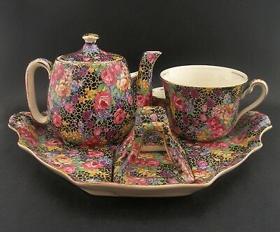 RARE Royal Winton Grimwades Hazel Chintz Vintage English China Breakfast Set